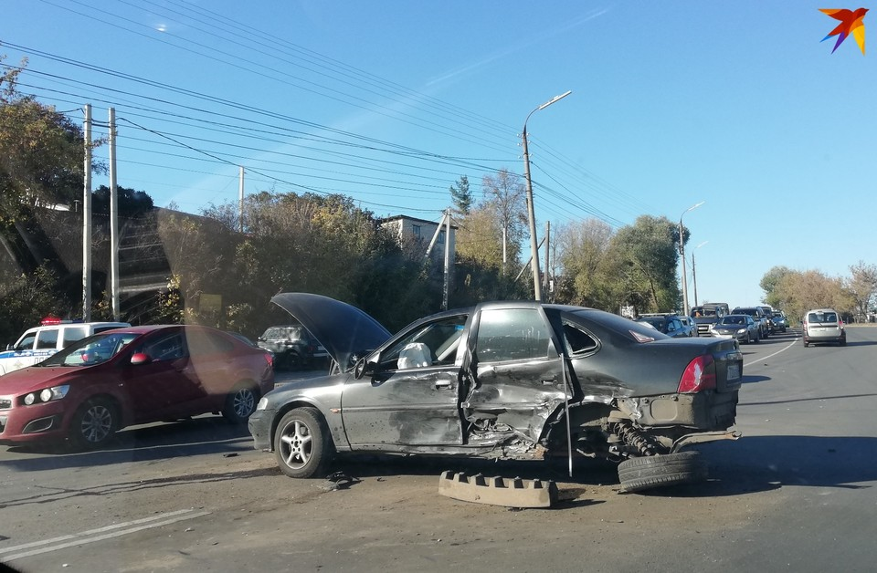 Четыре машины столкнулись на Болховском шоссе