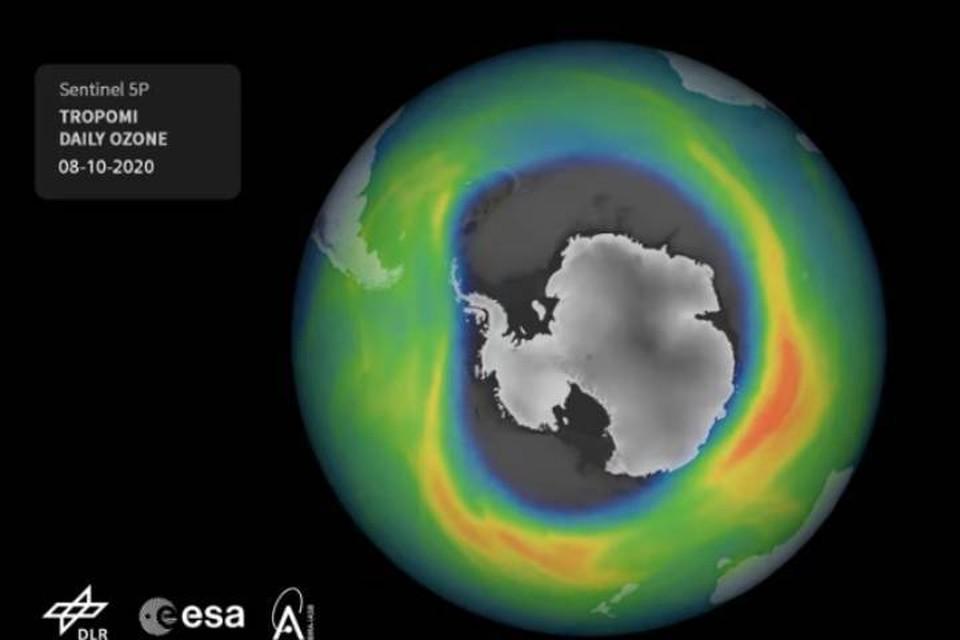 Озоновый слой над Антарктидой истончился на площади в несколько десятков миллионов квадратных километров.