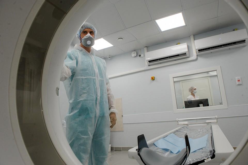 Компьютерная томография показывает изменения в легких, но она не диагностирует инфекцию