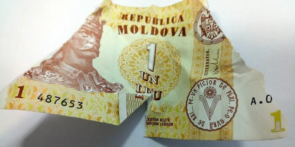 Рваный лей и другая валюта: Как в Молдове вернуть денежки, если в магазинах не принимают поврежденные банкноты