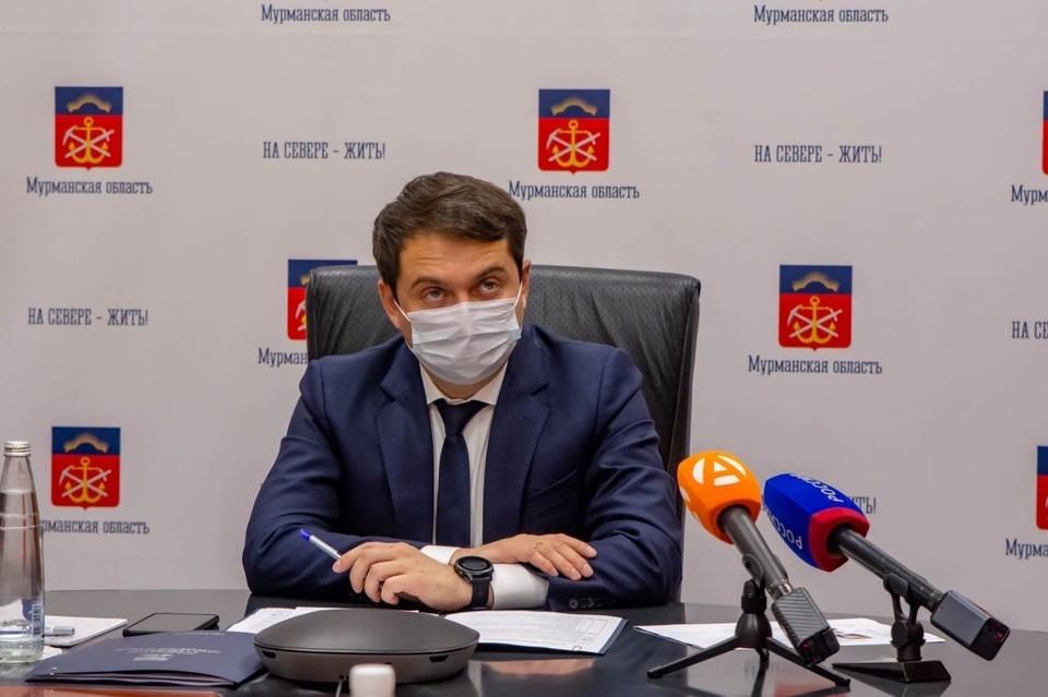 Андрей Чибис сообщил об ухудшении ситуации с коронавирусом в Мурманской области. Фото: правительство Мурманской области