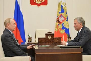 «38 депутатов болеют, 1 в реанимации, 1 умер»: Володин доложил Путину о коронавирусе в Думе