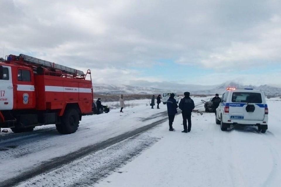 В ДТП пострадали 10 человек Фото: МВД Тувы