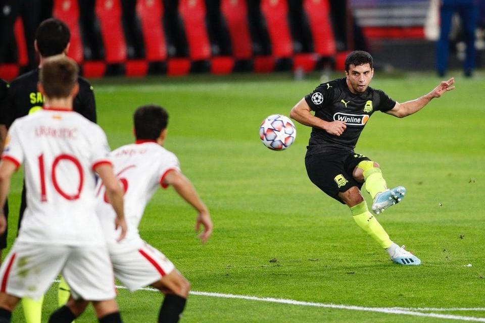 Севилья в меньшинстве одержала волевую победу над Краснодаром в Лиге чемпионов