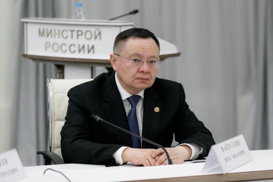 Ирек Файзуллин выдвинут премьером Михаилом Мишустиным на пост нового главы Минстроя. Фото: minstroyrf.gov.ru