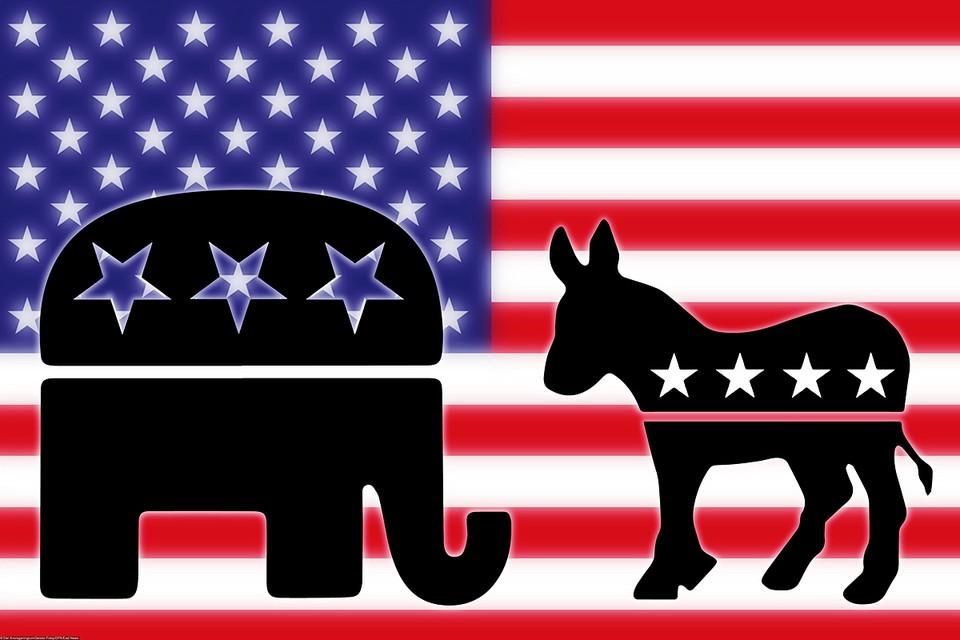 Слон и осёл - звери-символы республиканцев и демократов