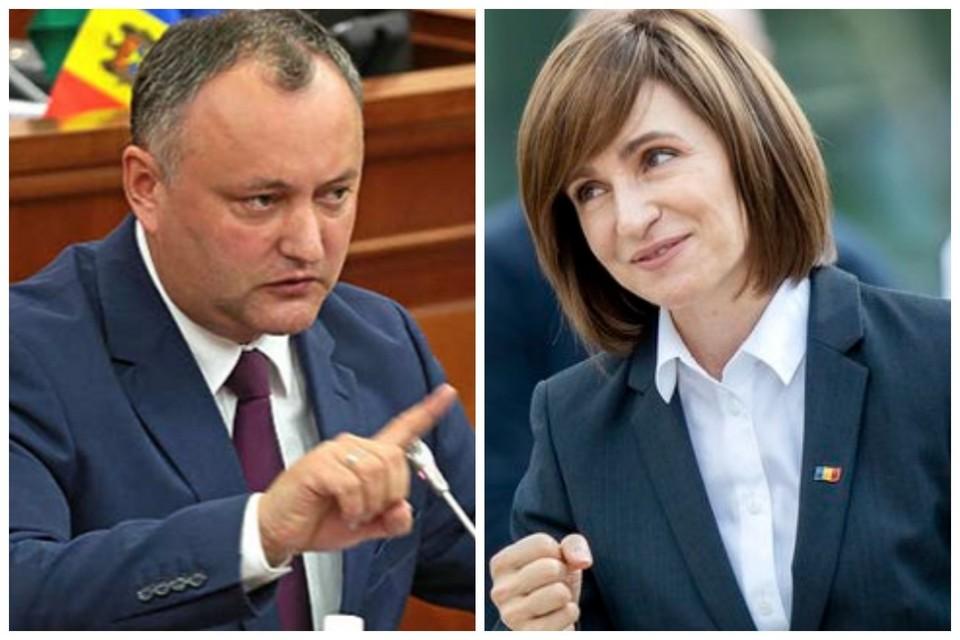 За президентское кресло в Молдове поборются Игорь Додон и Майя Санду.