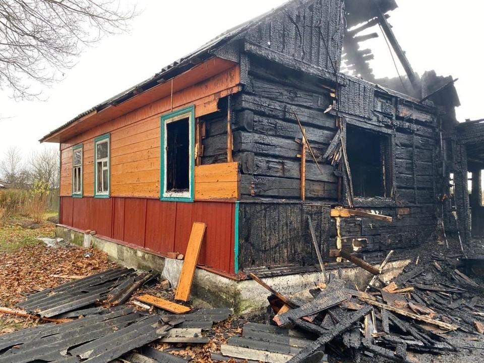 При пожаре в деревне Сипачи погибла пенсионерка