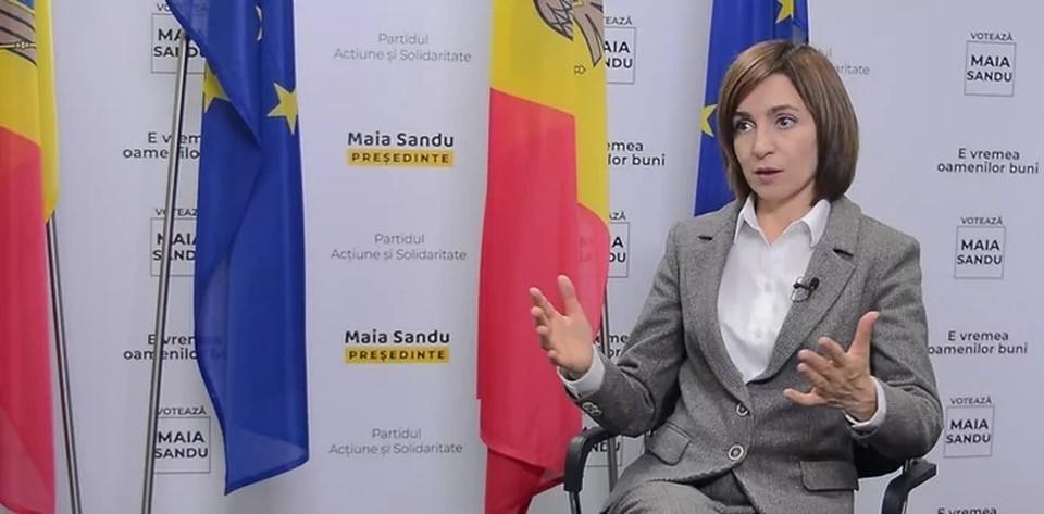 Новый президент Молдавии Майя Санду не признала Крым российским. Фото: скриншот из видео с интервью