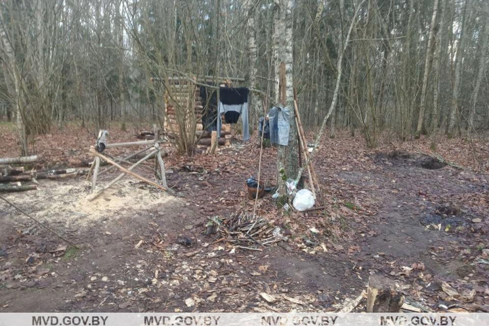 Здесь семья прожила два с половиной месяца - ушли в лес, испугавшись, что их чипируют. Фото: МВД.