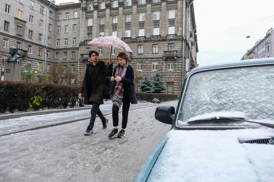 Снег с дождем ожидается в Петербурге