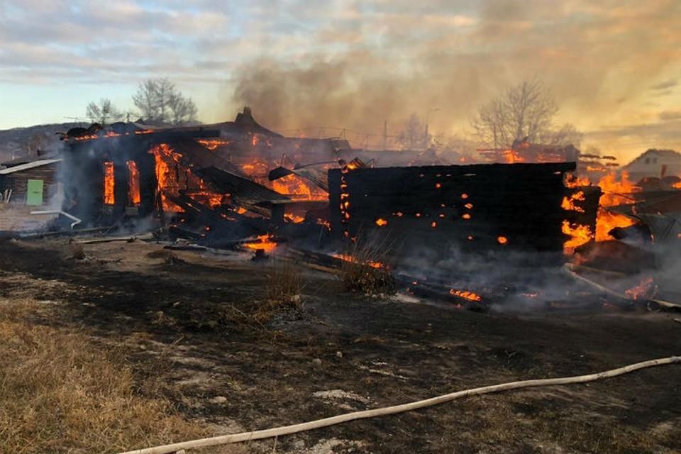 Видео пожара в школе в поселке Большое Голоустное. Фото: ГУ МЧС России по Иркутской области