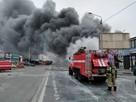 Пожар на рынке в Ростове-на-Дону 6 декабря 2020: горит павильон с пиротехникой