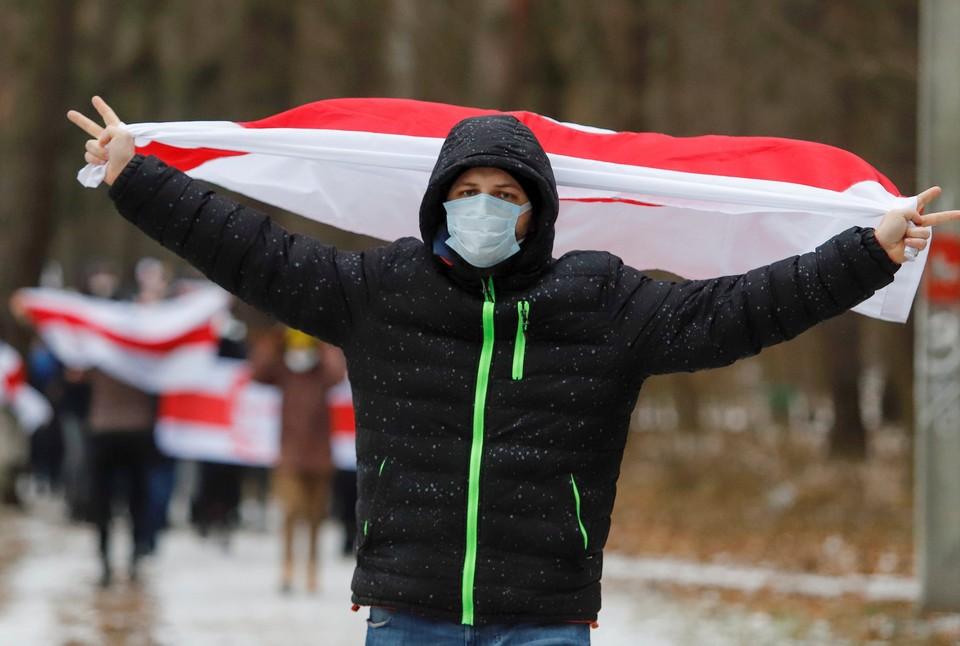 В Минске начались несанкционированный акции протеста