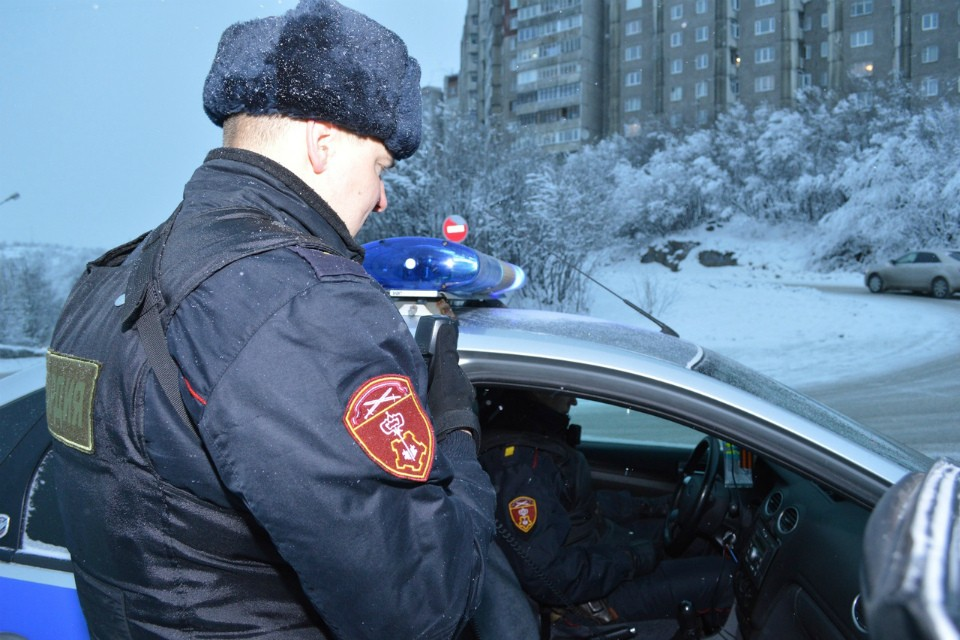 Вор не смог улизнуть от правоохранителей. Фото: пресс-служба Управления Росгвардии по Мурманской области