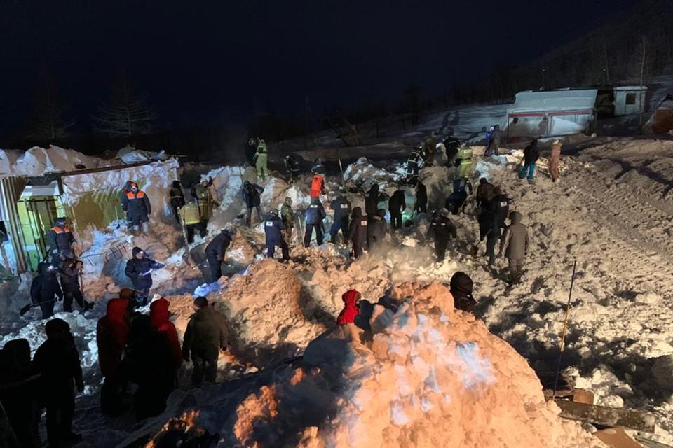 На севере Красноярского края сошла лавина