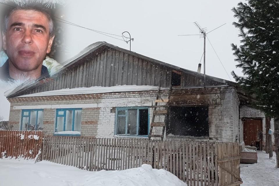Сибиряк спас соседку из пожара в селе Сосновка.