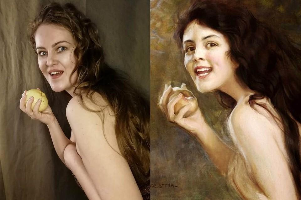 Меч из швабры и блузка-выручайка: Петербурженка за год изобразила больше 200 картин великих художников
