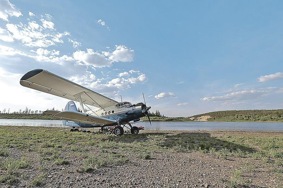 Так выглядел лагерь аэропутешественников на реке Подкаменная Тунгуска.
