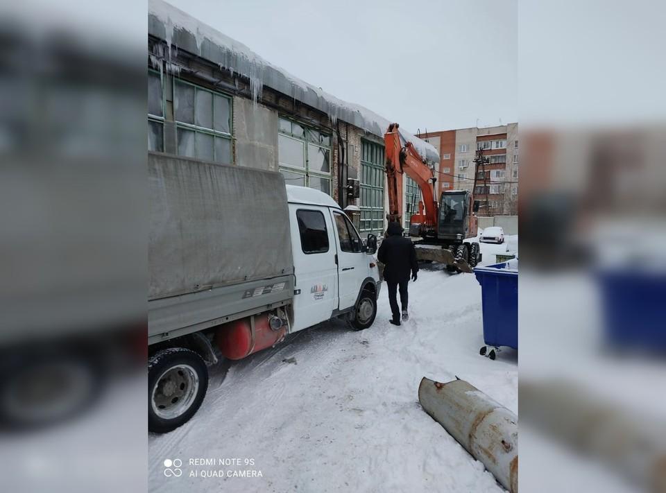 Аварию устраняли с 4 утра. Фото: Мэрские новости/t.me