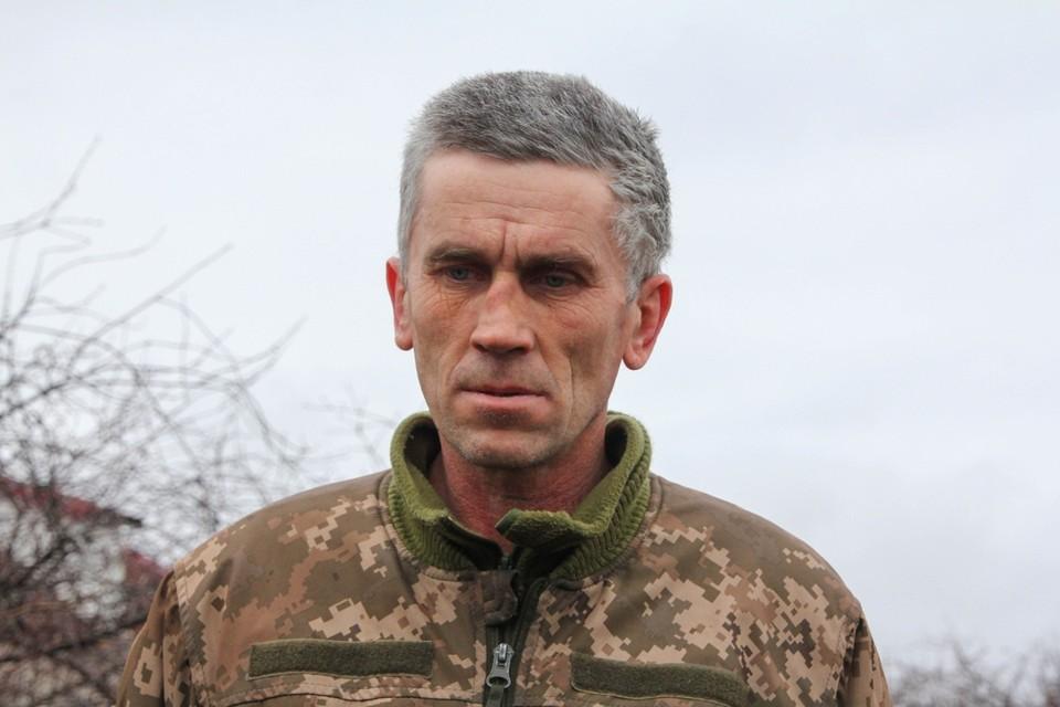 Украинский солдат опасается за своих родственников