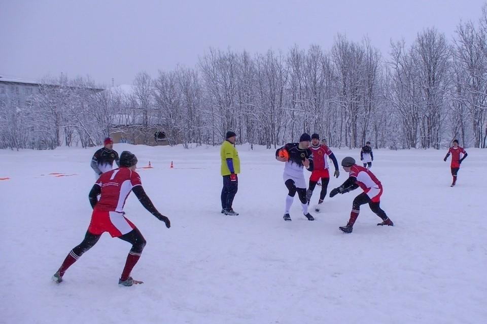 Финал чемпионата по снежному регби пройдет 23 февраля в Североморске. Фото: пресс-служба СФ