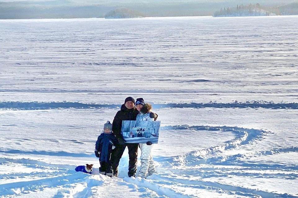 Губернатор Мурманской области преподнес подарок с изюминкой Севера. Фото: личный архив Андрея Чибиса