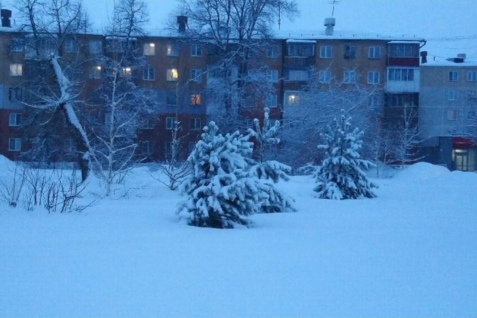 Где больше всего снега выпало за сутки в Кузбассе