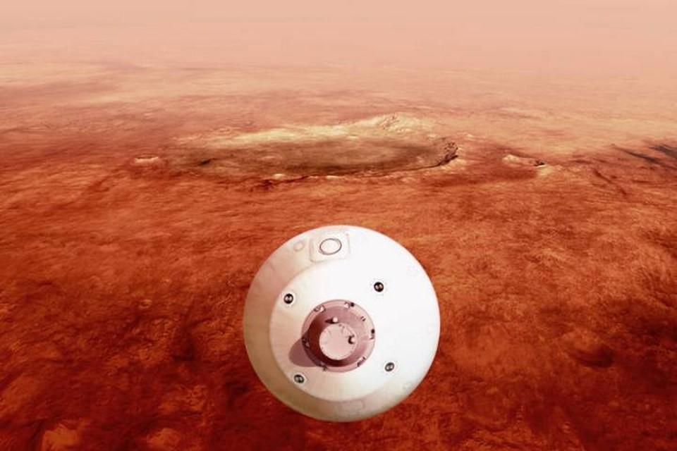 Аппарат с марсоходом на борту вот-вот устремится к поверхности Красной планеты.