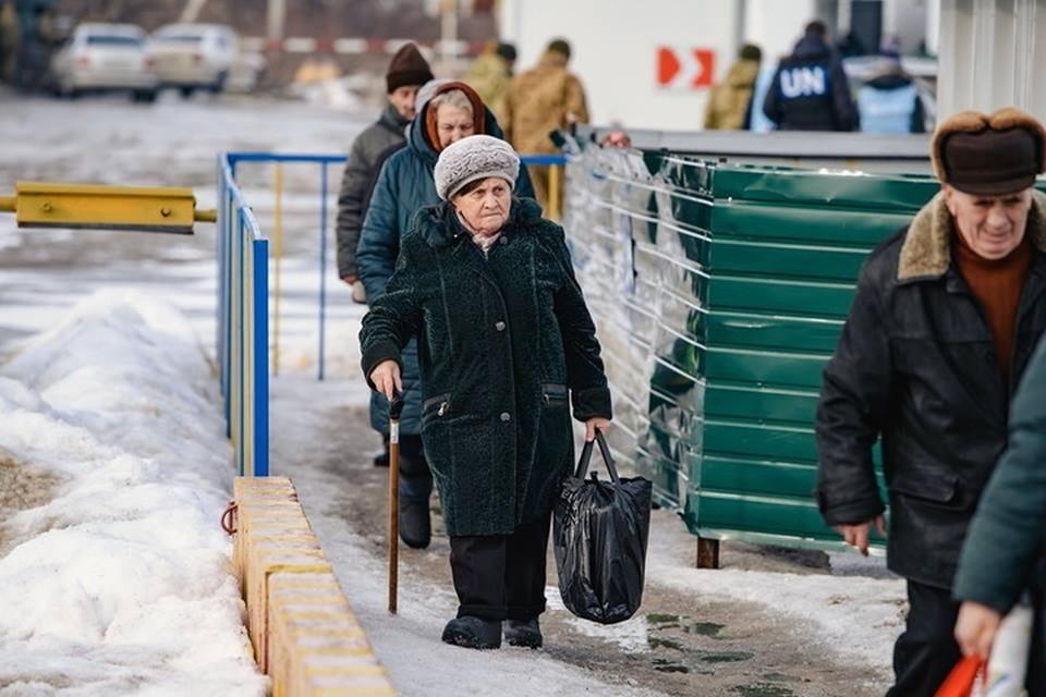 Для получения украинских пенсий пожилые жители Донбасса вынуждены проходить круги ада. Фото: Мониторинговая миссия ООН