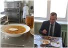 Губернатор Курганской области попробовал еду из школьной столовой