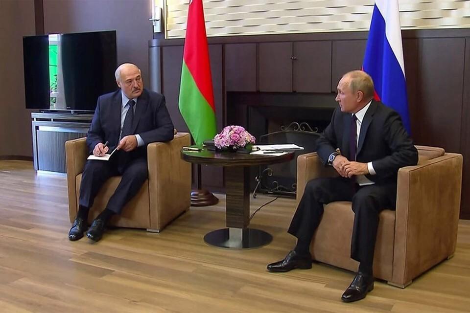 Встреча Путина и Лукашенко планируется 22 февраля. Фото: kremlin.ru