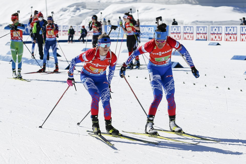 Сборная России осталась без медалей чемпионата мира по биатлону 2021 в женской эстафете.