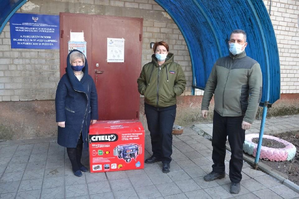 Из-за обстрелов с украинской стороны в детском саду часто отсутствует свет, проблему должен решить новый генератор. Фото: пресс-служба ОД «ДР»