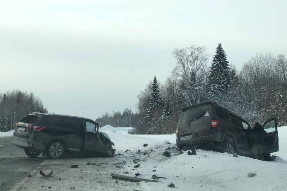 В столкновении двух машин погиб водитель иномарки. Фото: УГИБДД по Республике Карелия