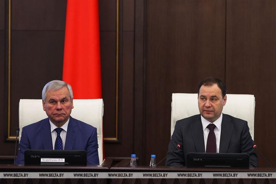 Головченко заявил, что в 2020 году была обеспечена устойчивая работа экономики. Фото: БелТА