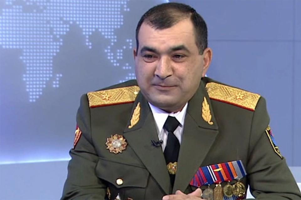 Первый заместителя начальника Генштаба Армении генерал Тиран Хачатрян.