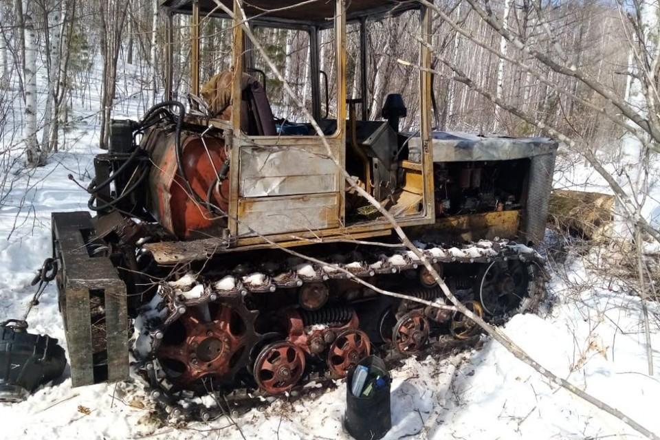 Часть техники, использовавшейся при незаконной заготовки древесины в Приморье. Фото: Министерство лесного и охотничьего хозяйства края