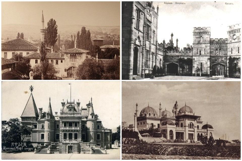 Как выглядели известные крымские дворцы 100 лет назад