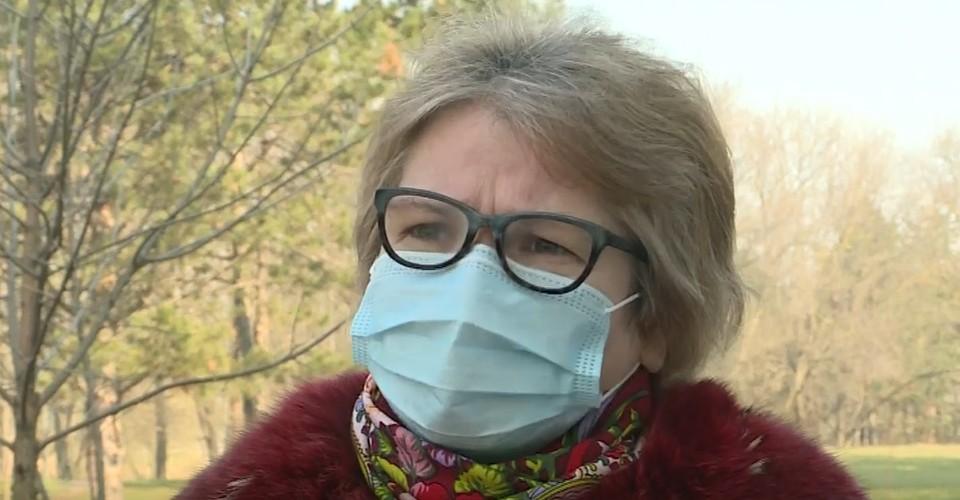 Жоржетту Катринеску не пустили в маске на церковную службу в Кишиневе. Фото: скриншот видео/publika
