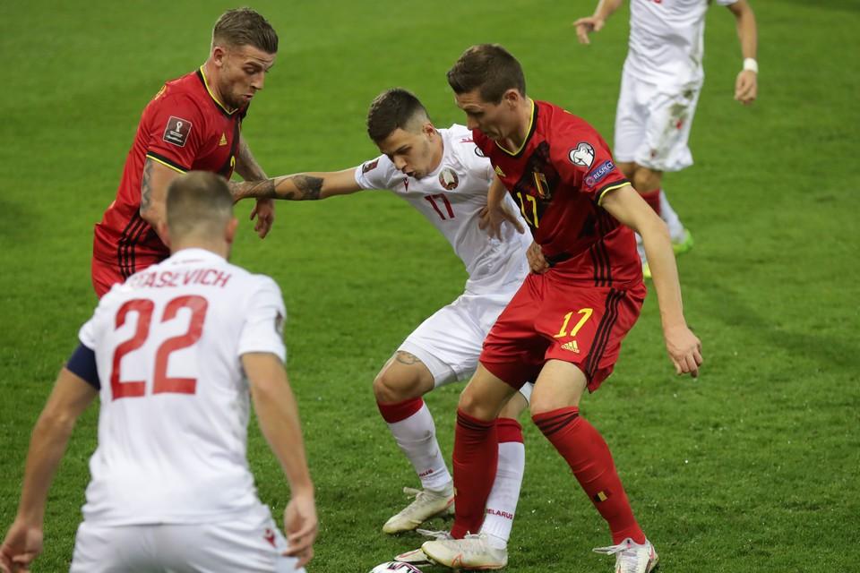 Сборная Беларуси была унижена сборной Бельгии с позорным счетом 8:0. Фото: abff.by