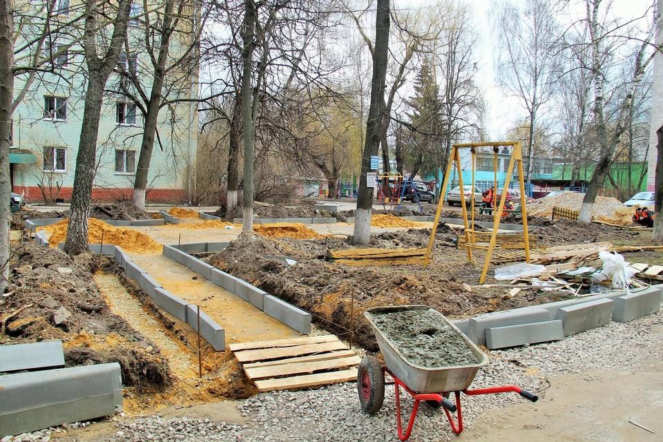 Ремонт дворов в Орле уже идет на 17 площадках. Фото: пресс-служба администрации погода