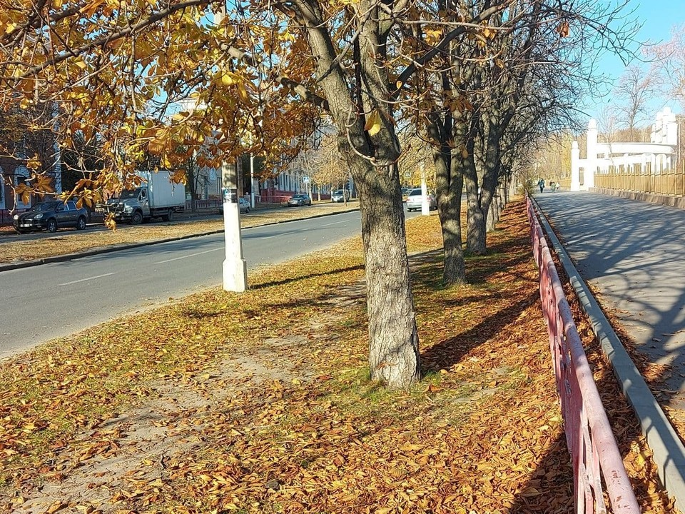 На улице Титова тишина.