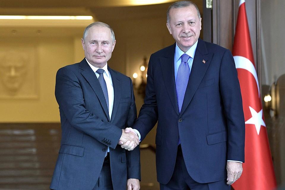 Владимир Путин провел телефонный разговор с турецким коллегой Реджепом Эрдоганом