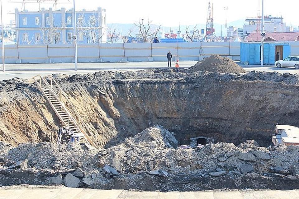 Во время земельных работ строители наткнулись на туннель