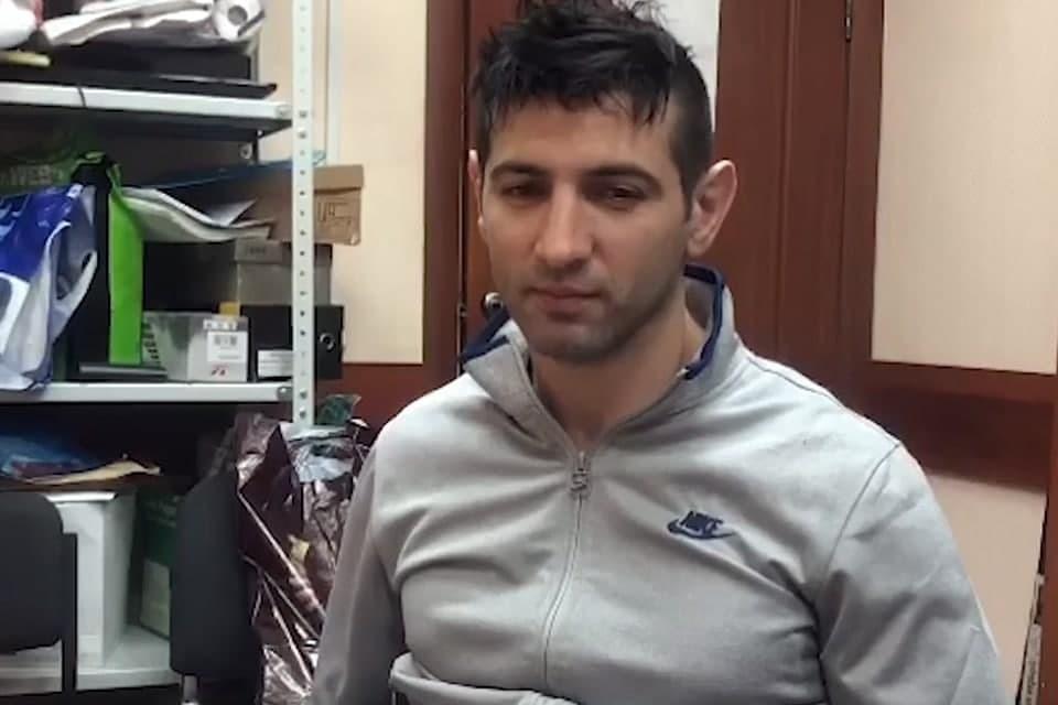 СК показал видео задержания подозреваемого в убийстве криминального авторитета в Москве. Фото: кадр из видео