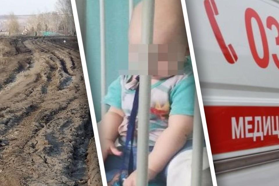 Малышка едва не погибла, потому что машина врачей застряла в грязи. Фото: Юлия Скибинская