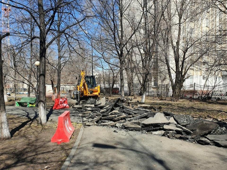 Добраться до Театра Драмы можно будет по благоустроенному тротуару. Фото: t.me/kultura174