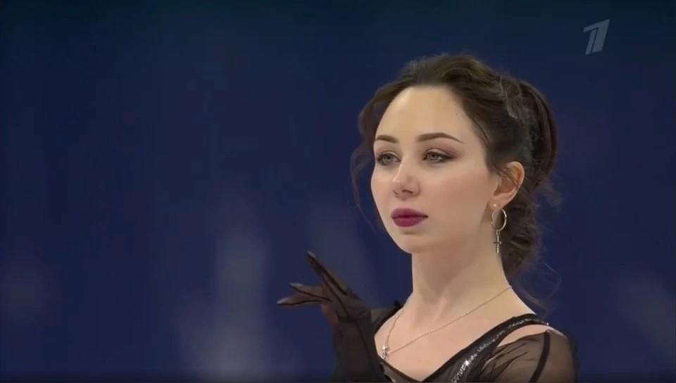 Фигуристка из Удмуртии Елизавета Туктамышева на чемпионате мира 2021 года в Стокгольме