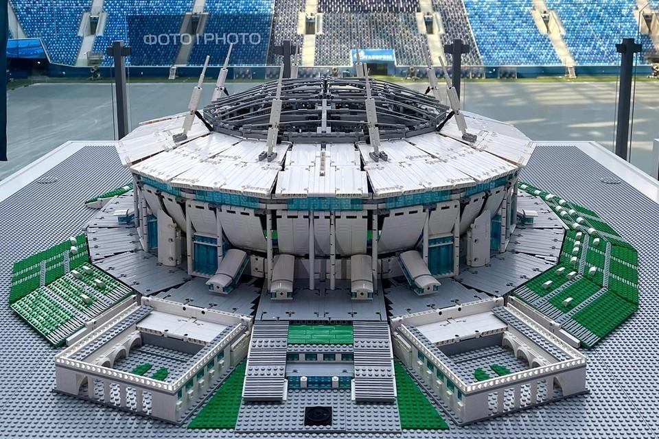 Стадион построен из 12 тысяч деталей. Фото: vk.com/euro2020spb